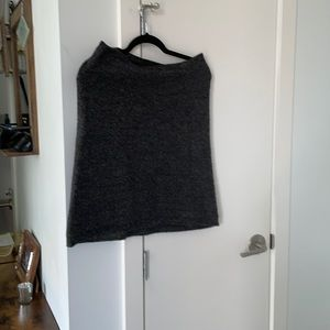 Wilfred grey wool skirt